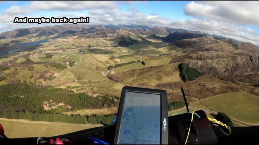 1 abril 2021 Paragliding at ksnanuten. Nice flight...